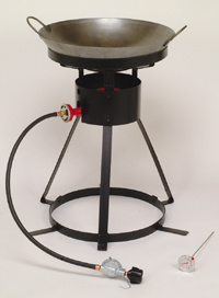 Porable Outdoor Cooking Stove with Wok and Turner