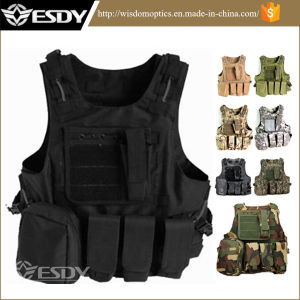 8-Colors Military Gear Molle Combat Soft Safety Protective Army Tactical Vest pictures & photos