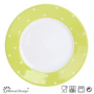 Color Bland Dots Design Wholesale Plate pictures & photos
