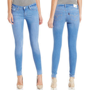 100% Cotton Ladies Brand Skinny Fashion Jeans pictures & photos