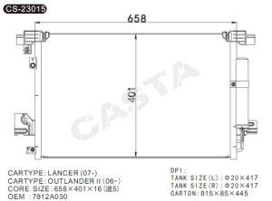 Hot sale auto condenser for Mitsubishi Lancer (07-) pictures & photos