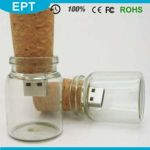 Wholesale 2GB / 4GB / 8GB / 16GB Wooden Glass Drift Bottle USB Flash Drive with Gift Box pictures & photos