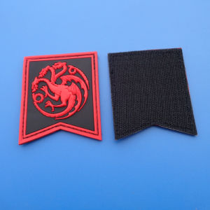 Long Design Customized Rectangle PVC Patch pictures & photos