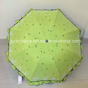 Folding Umbrella with Color Coated and Whole Panel Printing