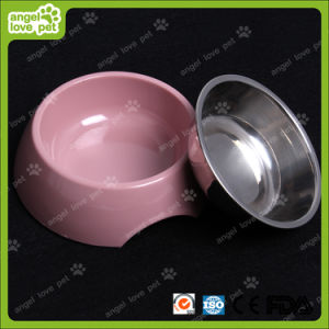Fashion Design Melamine Bowl with Stainless Steel Dog Bowl (HN-PB939) pictures & photos