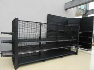 Supermarket Shelving with Mesh Back pictures & photos
