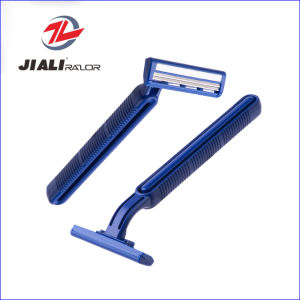 Twin Blade Disposable Razor for USA Europe Middle East (SL-3016L) pictures & photos