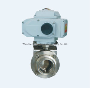 Stainless Steel Electric Actuator Hard Seat Butterfly Valve pictures & photos