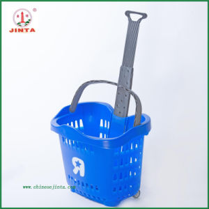 Brand New Plastic Material Rolling Basket (JT-TL-1) pictures & photos