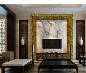 Wall Profile for TV Frm Surface Wrapped S123 Marble Color Foil pictures & photos