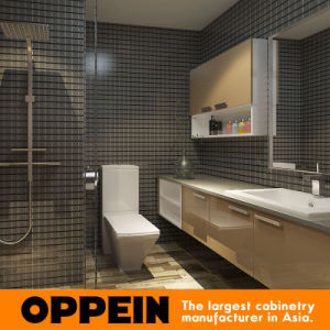 Oppein Hotel Modern Wooden Bathroom Vanity pictures & photos