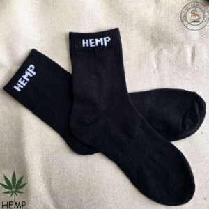 Super Breathable Comfortable and Endurable Hemp Cotton Socks (HS-1603) pictures & photos