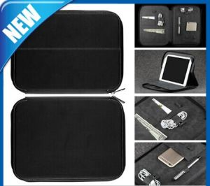 Multifunctions PU Travel Bag with Several Pocket Standing for iPad pictures & photos