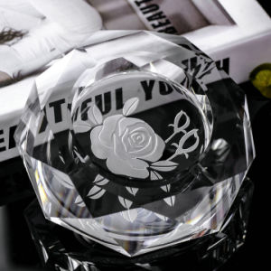 K9 Novel Design Round Crystal Ashtray for Home Decoration (KS13032) pictures & photos