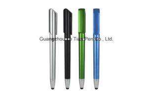Plastic Metal Push Pen with Stylus Promotional Ball Pen pictures & photos