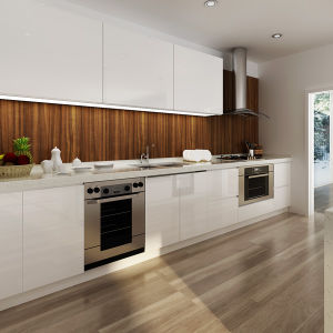 OPPEIN Australia Project White Lacquer Built-in Wooden Kitchen Cabinets (OP14-L03) pictures & photos