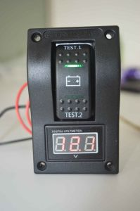 Digital Battery Voltmeter Test Panel Rocker Switch Dpdt on-off-on -Marine Boat pictures & photos