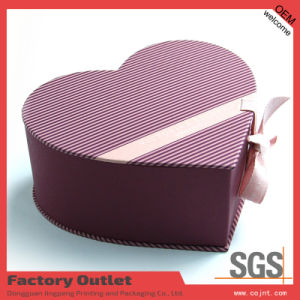 2015 Hot Sell Heart Shape Perfume Paper Box with Ribbon