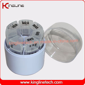 Any Color Plastic Cylindrical Weekly Pill Box (KL-9037) pictures & photos