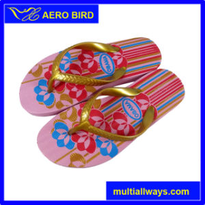 New Design Colorful Print PE Slippers for Lady (15I350) pictures & photos