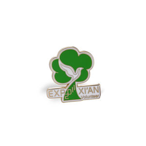 Engraved Pin Custom Volunteer Metal Printing Badge (GZHY-CY-045) pictures & photos