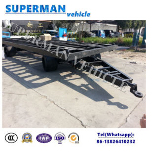 20FT Utility Flatbed Container Transport Industrial Drawbar Trailer for Yard Use pictures & photos