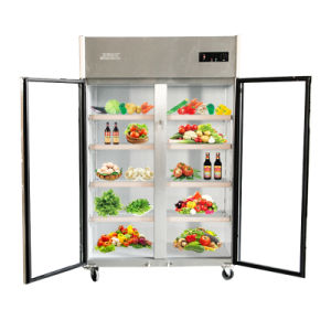 Double Doors Stainless Steel Large Volume Kitchen Refrigerator pictures & photos