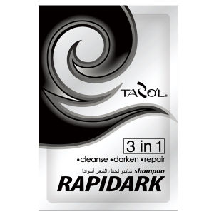 Tazol 15ml*2 in Bags Rapidark Black Color Hair Shampoo pictures & photos