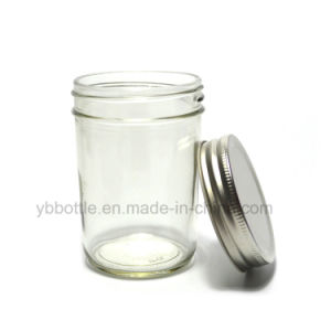 8oz Clear Glass Mug /Glass Jam Jars/ Mason Jars with Gold Screw Cap