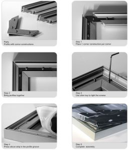 Advertising Frameless Textile Aluminum Frame pictures & photos