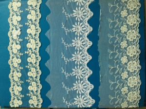 100% Polyester Water Soluble Embroideried Wedding Lace Chemical Lace