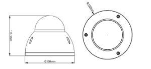 2.4megapixel 1080P Vandal-Proof IR Hdcvi Dome Camera pictures & photos