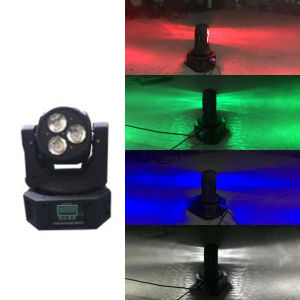 New LED Mini Double Face 3PCS*10W 4in1 Moving Head Beam Stage Light