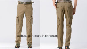 Fashion Mens Jeep Khaki Cotton Chago Pants pictures & photos