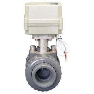 Auto Motorized PVC Ball Valve Electric Control Flow Water PVC Valve (A100-T32-P2-C) pictures & photos