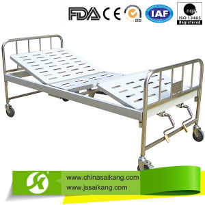 Perforated Steel Manual Medical Bed Double Crank pictures & photos