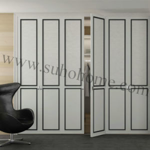 Wooden Bedroom Wooden Wardrobe Door with PVC