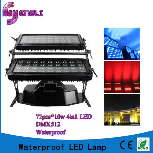 IP65 LED 10W 72PCS RGBW 4in1 LED Wall Wash Light pictures & photos