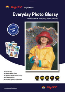 "230GSM 8.5""X11"" Single Side Mirror Glossy Photo Paper pictures & photos"