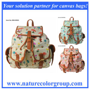 Mushroom Print Backpack Double Shoulder Bag (RSB-005) pictures & photos