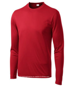 High Quality Long Sleeve Men′s Seamless Running Tshirt pictures & photos