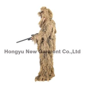 Military Camouflage Ghillie Suit Ghilly Suit Dry Field Grass (HY-C003) pictures & photos