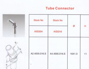 High Quality Stainless Steel Tube Connector pictures & photos