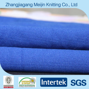 Blue 100% Polyester Knitting Plain Fabric for Garment (MJ5039)
