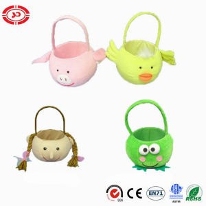 Easter Kids Gift Custom CE Funny Plush Basket Toy pictures & photos