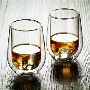 Hand-Made Double Wall Whisky Glass Cup Crystal Cup Wine Glass pictures & photos