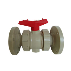 New Pph Flange Socket Ball Valve + PE Pipe Industrial Plastic Valve pictures & photos