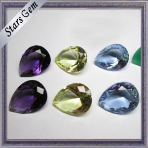 Muiti-Color Pear Shape Brilliant Cut Hot Sale Cubic Zirconia pictures & photos