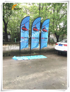 3.4m Tradeshow Aluminium Double Side Printing Feather Flag/Flying Flag pictures & photos
