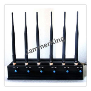 6 Band Desktop Power Adjustable Mobile Signal Jammer, Police Station Jammer/Meeting Room Jammer/ Office Jammer pictures & photos